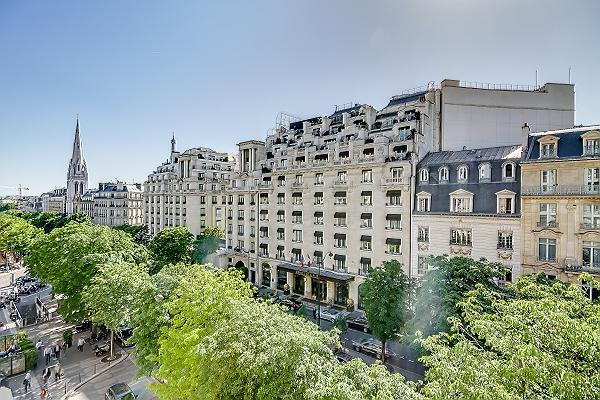 stunning view from the Paris luxury apartment