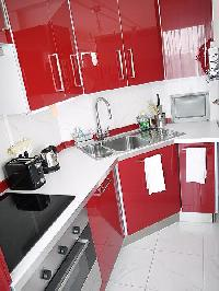 cool modern kitchen of Tour Eiffel - Suffren luxury apartment