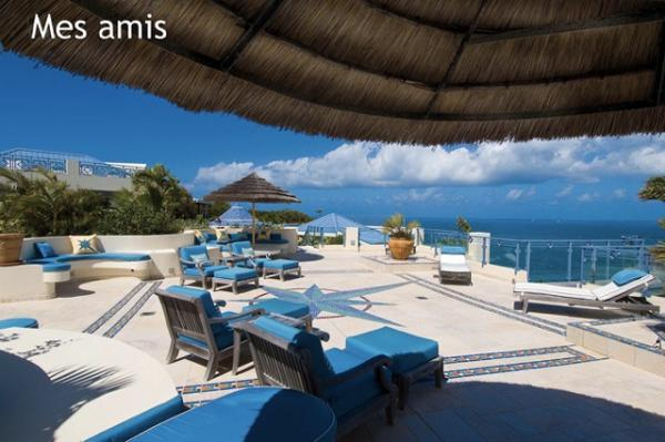 beautiful Caribbean Saint Martin Mes Amis luxury holiday home, vacation rental