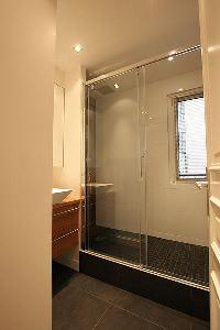 dapper shower area in Passy La Tour luxury apartment