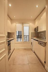 nice modern kitchen appliances in Passy La Tour luxury apartment