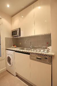 cool kitchen fixtures in Passy La Tour luxury apartment