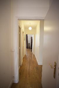 hallway in a 2-bedroom Paris luxury apartment