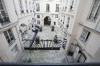courtyard view in a 2-bedroom Paris luxury apartment