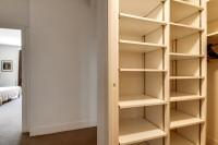 closet in a 2-bedroom Paris luxury apartment