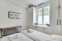 fresh bedding in Saint Germain des Prés - Luxembourg Suite luxury apartment