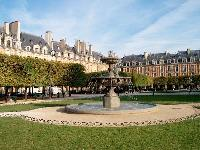 nearby Place des Vosges from a Paris luxury apartment