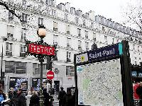 nearby Saint Paul metro from a Paris luxury apartment