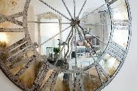 classy clock  in a Paris luxury apartment