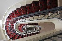 spiral stairs in Paris luxury apartment
