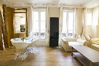 2-bedroom Paris luxury apartment with perfect blend of rustic and modern interiors