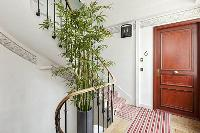 stairs and entrance to the studio apartment in Paris