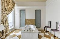 cool bathroom in Saint Germain des Prés - Luxembourg Guynemer luxury apartment