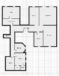 floor plan of Saint Germain des Prés - Luxembourg Guynemer luxury apartment