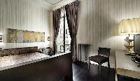 awesome bedroom with a view at Trocadero - Luxury Poincaré luxury apartment