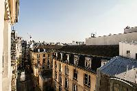 view from the French windows of a 1-bedroom Paris luxury apartment