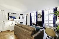 tastefully-decorated one-bedroom Paris luxury apartment