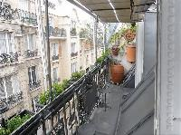 street views from the balcony of a studio luxury apartment in Paris