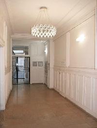 hallway in a studio luxury apartment in Paris