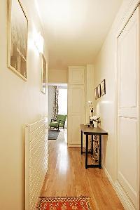 sleek hallway in a Paris luxury apartment