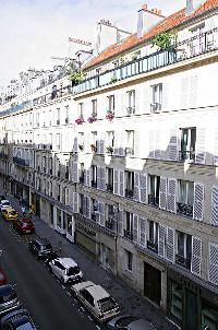 street view from a 1-bedroom Paris luxury apartment
