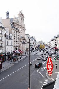street view from a Paris luxury apartment