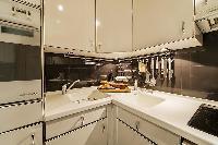 nice modern kitchen of Tour Eiffel - Trocadero Albert de Mun