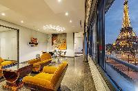 splendid living room of Tour Eiffel - Trocadero Albert de Mun