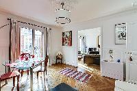 delightful dining room with balcony at Passy - Trocadero I luxury apartment
