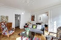 awesome sitting area in Passy - Trocadero I luxury apartment