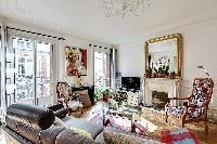 cool parlor with a balcony at Passy - Trocadero I luxury apartment