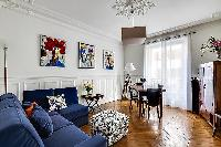awesome living room with balcony at Passy - Trocadero II luxury apartment