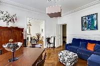 awesome sitting area in Passy - Trocadero II luxury apartment