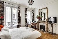 awesome bedroom with balcony at Passy - Trocadero II luxury apartment