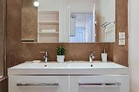stylish sink in a 2-bedroom paris luxury apartment