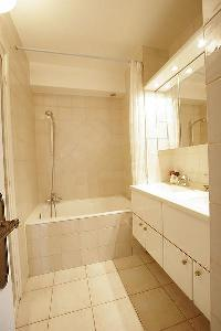 neat bathroom interiors of Trocadero - Sablons luxury apartment