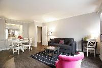 amazing open-plan living room of Trocadero - Sablons luxury apartment