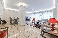 Paris luxury apartment furnished with modern and vibrant interiors