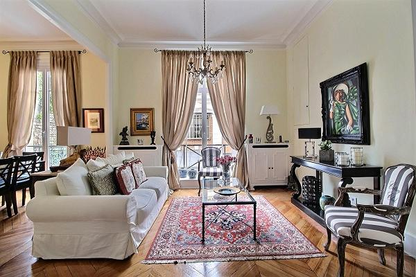Paris luxury 2-bedroom apartment with classic French interiors