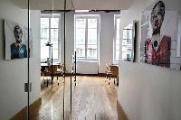 2-bedroom Paris luxury apartment with hardwood floors and modern pieces of furniture
