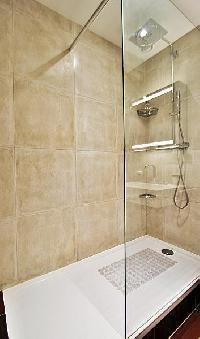 shower area in paris luxury apartment