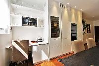 study area in a 2-bedroom paris luxury apartment