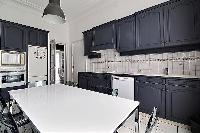 cool kitchen of Trocadero - Georges Mandel luxury apartment