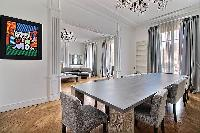 delightful dining room of Trocadero - Georges Mandel luxury apartment