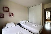 clean and fresh bed sheets and pillows in Ternes - Wagram luxury apartment
