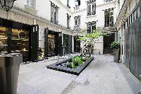 courtyard in Paris luxury apartment