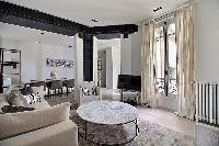 luminous 2-bedroom Paris luxury apartment overlook the courtyard with double-glazed windows making i