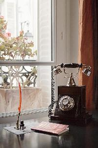 a classic telephone in Paris luxury apartment