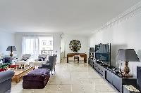 awesome living room in Trocadéro - Poincaré 3 Bedrooms II luxury apartment