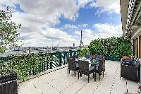 amazing terrace of Trocadero - Poincaré 2 bedrooms luxury apartment